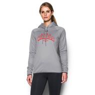 AJX Under Armour Women's Double Threat Fleece Hoody - True Grey (AJX-023-TG)
