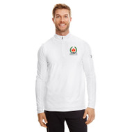 AJX Under Armour Men's Tech Quarter-Zip 70th anniversary logo - White (AJX-010-WH)