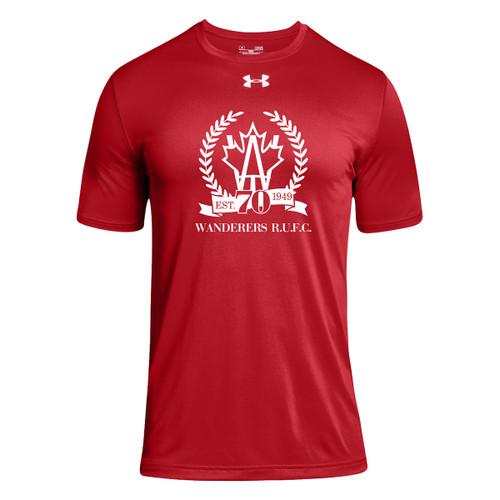 AJX Under Armour Men's Short Sleeve Locker 2.0 Tee 70th anniversary logo - Red (AJX-006-RE)