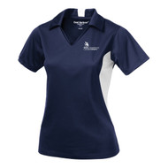 SON Coal Harbour Snag Resistant Color Block Ladies Sport Shirt - Navy/White (SON-202-NY)