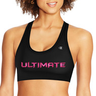 UCC Champion Women's Sports Bra - Black (UCC-219-BK)
