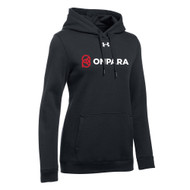 OPN Under Armour Women's Hustle Fleece Hoody - Black (OPN-201-BK)