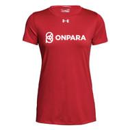 OPN Under Armour Women's Short Sleeves Locker Tee - Red (OPN-204-RE)
