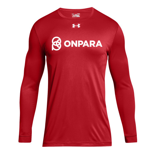 OPN Under Armour Men's Long Sleeve Locker Tee- Red (OPN-105-RE)