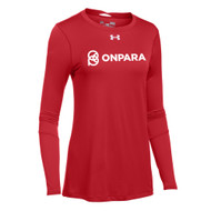 OPN Under Armour Women's Long Sleeve Locker Tee - Red (OPN-205-RE)