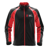OPN Stormtech Men's Warrior Training Jacket - Black/Bright Red/White (OPN-108-BK)