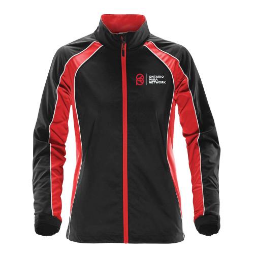 OPN Stormtech Women's Warrior Training Jacket - Black/Bright Red/White (OPN-208-BK)