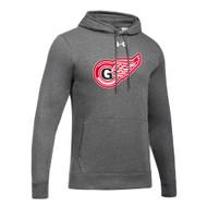 GRW Under Armour Men's Hustle Fleece Hoody - Carbon (GRW-104-CB)