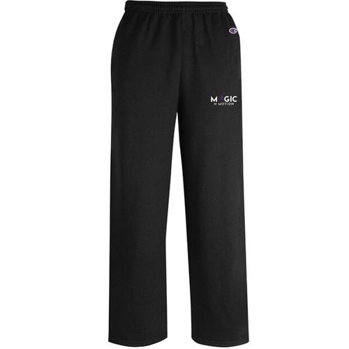 MNM Champion Adult Powerblend ECO Open Bottom Pant w/pockets - Black (MNM-002-BK)