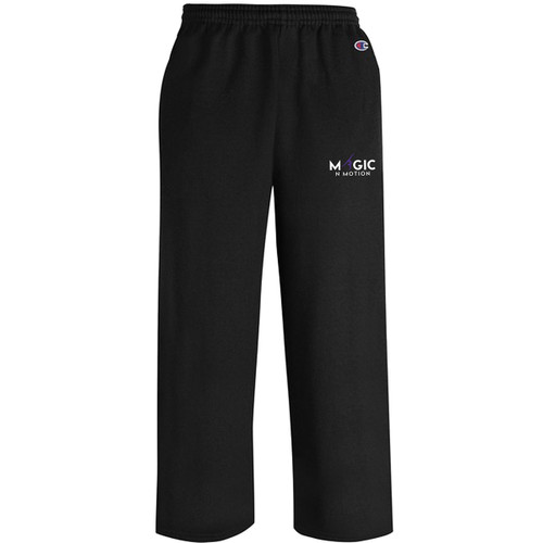 MNM Champion Youth Powerblend ECO Open Bottom Pant w/pockets - Black (MNM-304-BK)