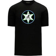 WNR Apparel Men's Classic One Color T-Shirt - Black (WNR-104-BK)