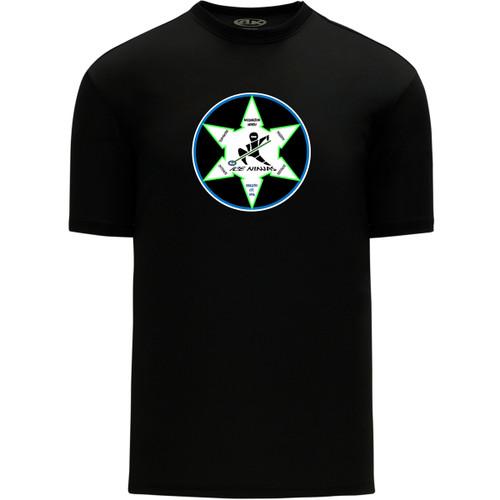 WNR Apparel Men's Classic One Color T-Shirt - Black (WNR-104-BK)