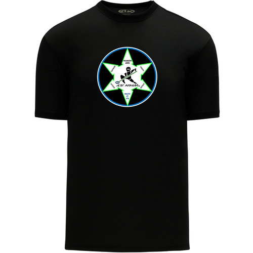 WNR Apparel Women's Classic One Color T-Shirt - Black (WNR-204-BK)