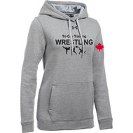 TCT Under Armour Women's Hustle Fleece Hoody - True Grey Heather