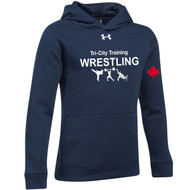 TCT Under Armour Youth Hustle Fleece Hoody - Navy (TCT-301-NY)
