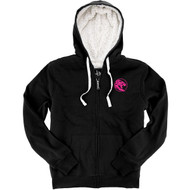 UCC Boxercraft Adult Sherpa Full-Zip Hooded Sweatshirt - Black/Natural (UCC-033-BN.BC-Q19)