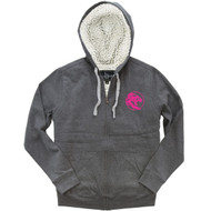 UCC Boxercraft Adult Sherpa Full-Zip Hooded Sweatshirt - Granite/Natural (UCC-033-GN.BC-Q19)