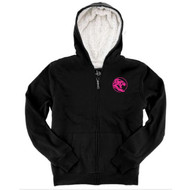 UCC Boxercraft Youth Sherpa Full-Zip Hooded Sweatshirt - Black/Natural (UCC-333-BN.BC-YQ19)