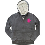 UCC Boxercraft Youth Sherpa Full-Zip Hooded Sweatshirt - Granite/Natural (UCC-333-GN.BC-YQ19)