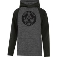 WPH ATC Youth Dynamic Heather Fleece Two Tone Hooded Sweatshirt - Black (WPH-305-BK)