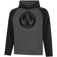 WPH ATC Adult Dynamic Heather Fleece Two Tone Hooded Sweatshirt - Black (WPH-005-BK)