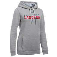 LCL Under Armour Women's Hustle Fleece Hoody - True Grey (LCL-204-TG)