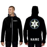 WNR North Men's End Prospect Two Layer Fleece Bonded Soft Shell Hooded Jacket - Black (WNR-106-BK)