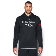 TCT Under Armour Men's Double Threat Armour Fleece Hoodie - Black (TCT-106-BK)
