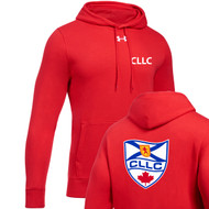 CLL Under Armour Men's Hustle Fleece Hoodie - Red (CLL-103-RE)