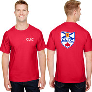 CLL Champion Adult Ringspun Cotton T-Shirt - Red (CLL-004-RE)