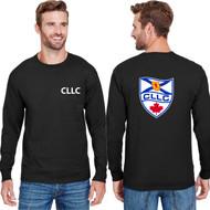 CLL Champion Adult Long-Sleeve Ringspun T-Shirt - Black (CLL-005-BK)