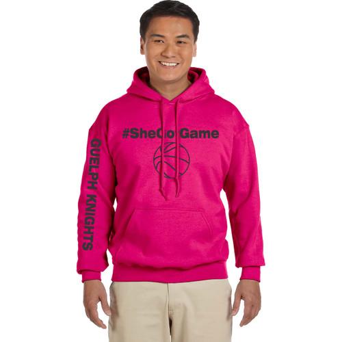 GKC Gildan Adult Heavy Blend Hood - Heliconia Pink (GKC-003-PK)