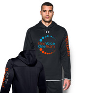 OVO UA Fleece Double Threat Men's Hoodie - Black (OVO-103-BK)