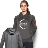 OVO UA Double Threat Armour Fleece Women's Hoodie - Carbon Heather (OVO-203-CB)