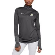 ADS Under Armour Women's Locker ¼ Zip Long Sleeve T-Shirt - Carbon Heather (ADS-202-CB)