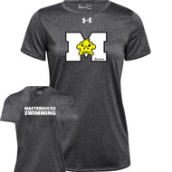 ADS Under Armour Women's Locker 2.0 Tee - Carbon Heather (ADS-204-CB)