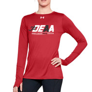 DEAA Under Armour Women's Long Sleeves Locker T-Shirt - Red