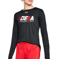 DEAA Under Armour Women's Long Sleeves Locker T-Shirt - BLACK