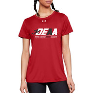 DEAA Under Armour Women's Short Sleeves Locker T-Shirt - Red