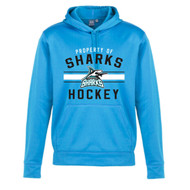 Scarborough Sharks Biz Collection Men's Hype Pull on Hoody - Cyan (SSH-105-CY)