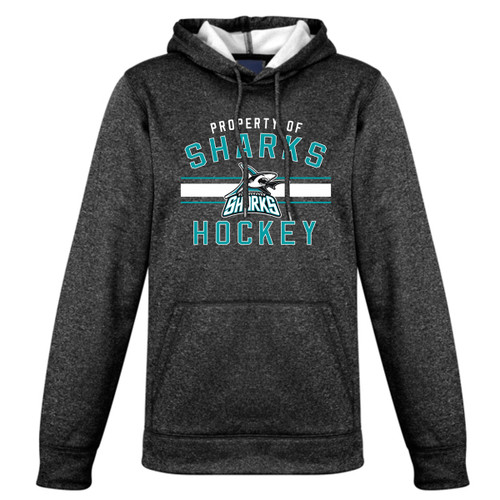 Scarborough Sharks Biz Collection Ladies Hype Pull on Hoody - Black Marle (SSH-205-BM)
