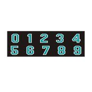 Scarborough Sharks Helmet Decals - Numbers (SSH-056-BK.PT-107A)