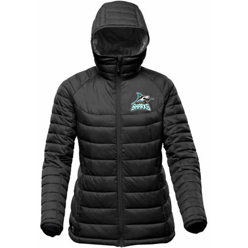 Scarborough Sharks Stormtech Women's Stavanger Thermal Jacket - Black (SSH-213-BK)