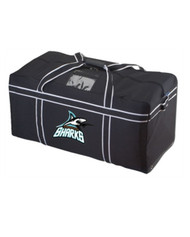Scarborough Sharks Reinforced Team Players Hockey Bag - Black (SSH-060-BK.KO-RTB1236-BLWH)