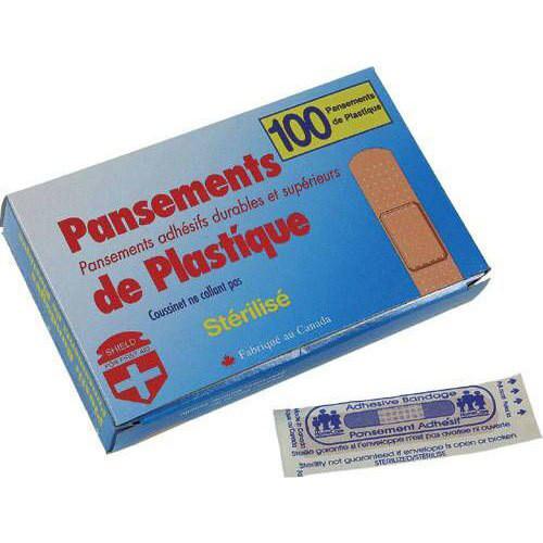 Scarborough Sharks Plastic Bandages (Box of 100) (SSH-063.P326)