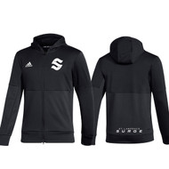 SLC Adidas Men''s Team Issue Full Zip Jacket - Black (SLC-106-BK)