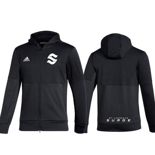 SLC Adidas Men''s Team Issue Full Zip Jacket - Black (SLC-106-BK)