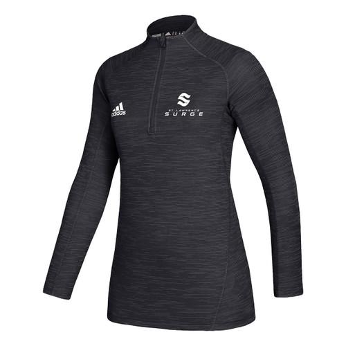 SLC Adidas Women's Game Mode Performance ¼ Zip - Black (SLC-207-BK)