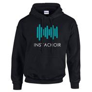 INS Gildan Adult Heavy Blend Pullover Hooded Sweatshirt - Black (INS-002-BK)