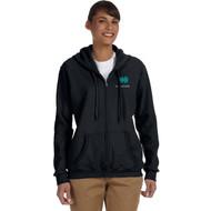 INS Gildan Ladies'S Heavy Blend Full-Zip Hood - Black (INS-203-BK)